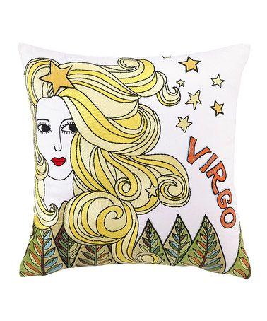 Love this Virgo Embroidered Pillow on #zulily! #zulilyfinds