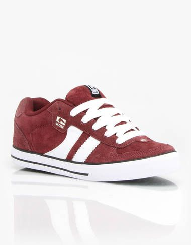 Globe Encore 2 Skate Shoes - Burgundy/White - RouteOne.co.uk