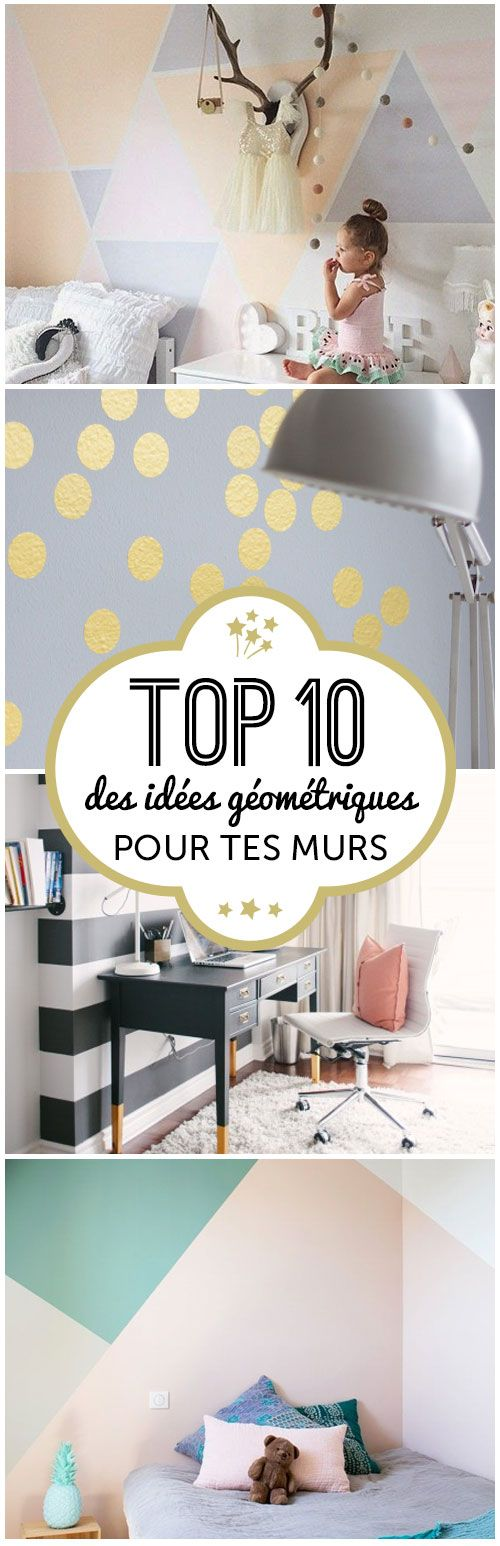 204 best images about murs graphique on pinterest coins pastel and paint ideas. Black Bedroom Furniture Sets. Home Design Ideas
