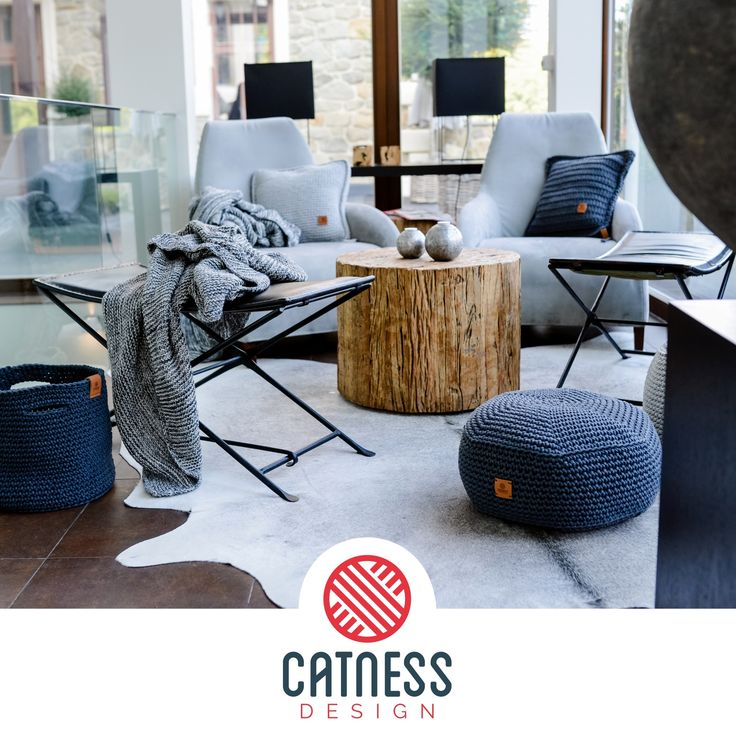Home furnishing. Knitted and crocheted accessories. Design by Catness. Interior design.