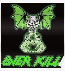Overkill skull bat green  Poster