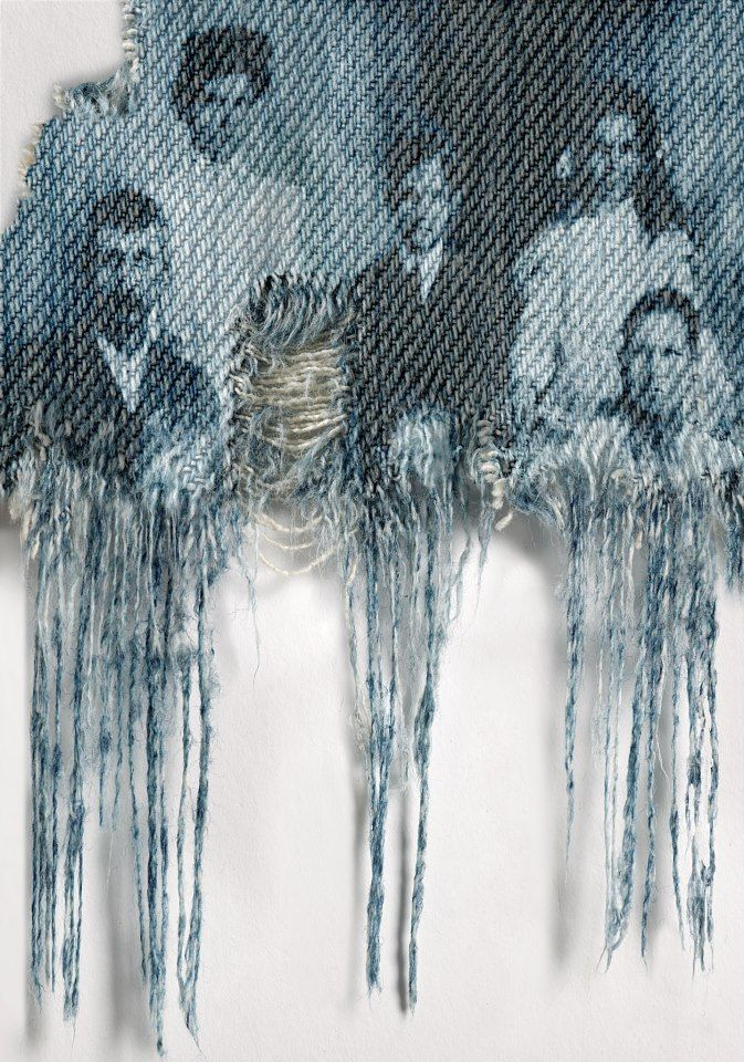 Genes by Freudenthal and Verhagen discharge print   - print cotton pickers faces onto denim?