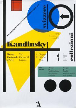 Bruno Monguzzi poster: Kandinsky - Museo Cantanale d'Arte