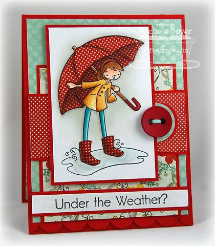 from Paper Cuts by Michele Boyer /  I love the red on red border at the bottom