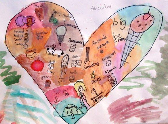 1st Grade Valentine's Day Art Project