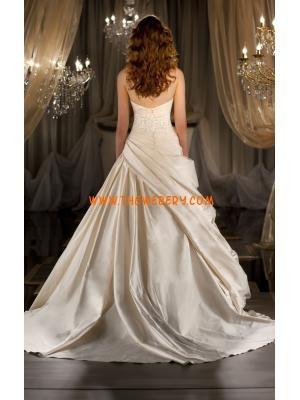 moderna applique stile semplice abito da sposa taffett? dal ...