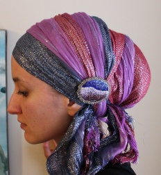 wrapunzel andrea grinberg tichel    GORGEOUS!! It looks like something Rebecca of York would wear..!