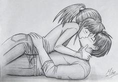 couples kissing drawing - Google zoeken