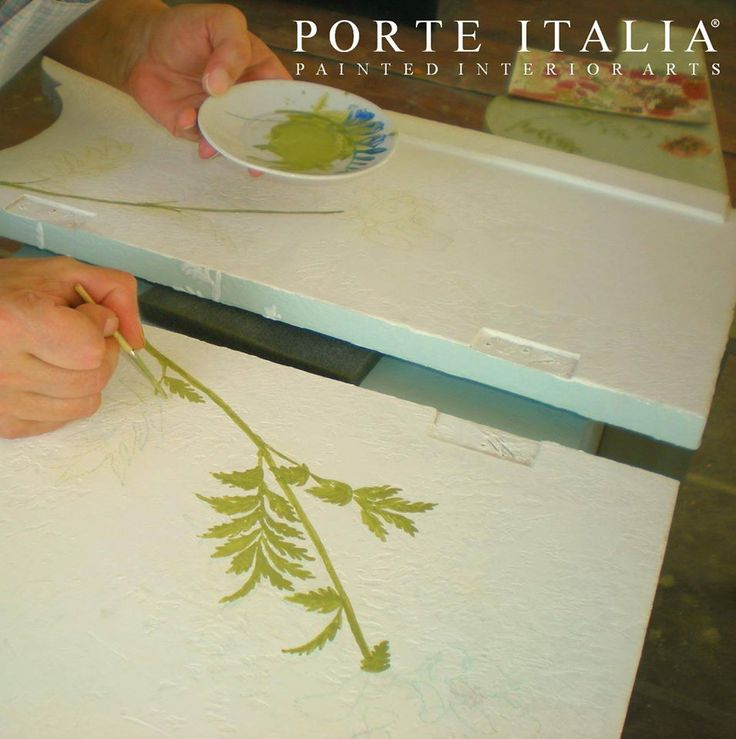 Our artists at work, creating unique masterpieces for your home!  Contact us at info@porteitalia.com for all information about our bespoke #handpaintedfurniture!  Porte Italia Interiors www.porteitalia.com