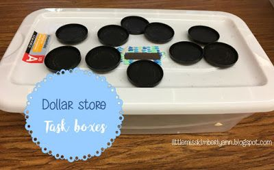 Little Miss Kimberly Ann: Dollar Store Task Boxes!