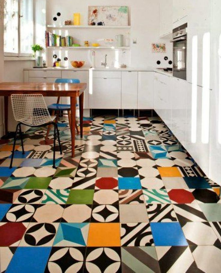 Kitchen Floor Tile | Floor Kitchen Tile Flooring Ideas With Green Backsplash | Kitchen ...