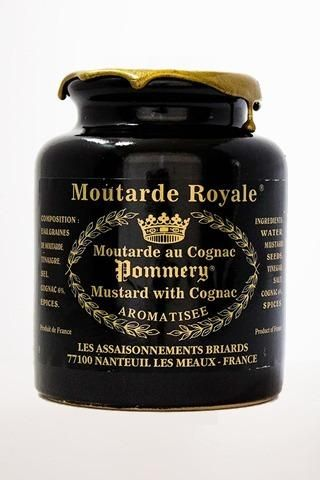 The Moutarde Royale au Cognac Pommery® is a mustard in grain with the very particular taste thanks to its spices, complementary with the perfume of the cognac.