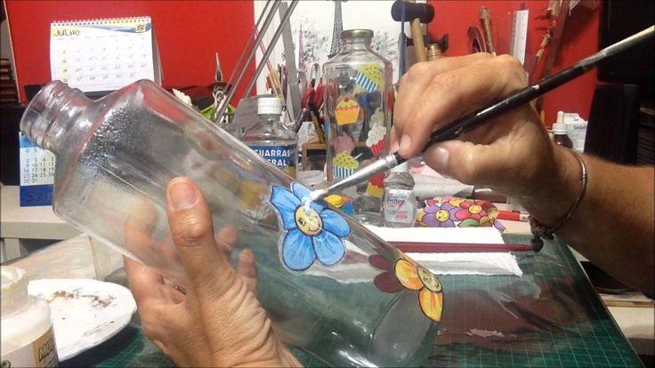 Decoupage em Vidro, como fazer? - DIY - Estúdio Brigit