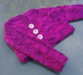 Katren baby cropped cardigan  cute heart pattern  knitting pattern