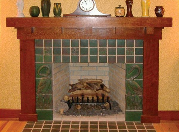 Arts crafts for the hearth craftsman style mantle and for Craftsman fireplaces photos