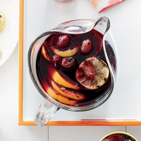 Grilled red grapes, grilled citrus, rosé, simple syrup, brandy // More Fabulous Pitcher Drinks: http://www.foodandwine.com/slideshows/pitcher-drinks #foodandwine