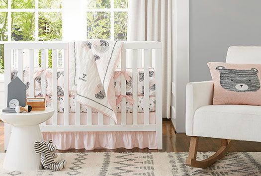 1000 Images About Pink And Gray Kiddie Cribs What S New
