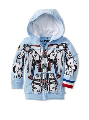 60% OFF Mini Shatsu Kid's Robot Hoody (Blue Multi)