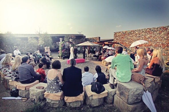FORUM HOMINI HOTEL & ROOTS RESTAURANT | Cradle of Humankind | A Six-star luxury haven amidst beautiful natural surroundings. The eco-friendly architecture with narrow walkways and abundance of endemic plants that naturally occur in the area will create a picture perfect wedding. (Photo via Wedding Inspirations)