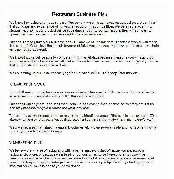 25 Restaurant Business Plan Pdf In 2020 Business Plan Template