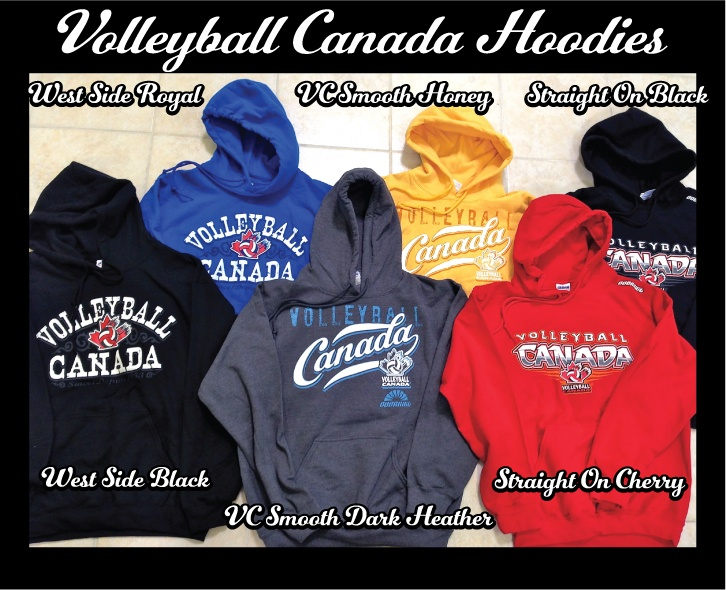 One of our Triple F (Friday Facebook Frenzy) ads on Canuckstuff Facebook page. We were giving away one of our Overkill designed Volleyball Canada hoodies. Which one do you like best?