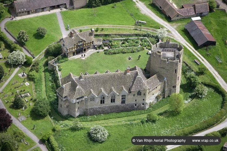 Aerial View Of Stokesay Castle Churches Cathedrals And