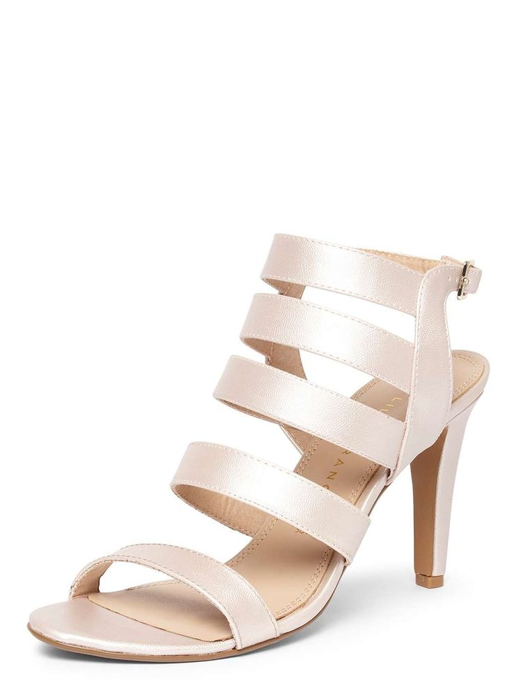 Womens **Lily & Franc 'Jaz' Strappy High Heel Sandals- Pink