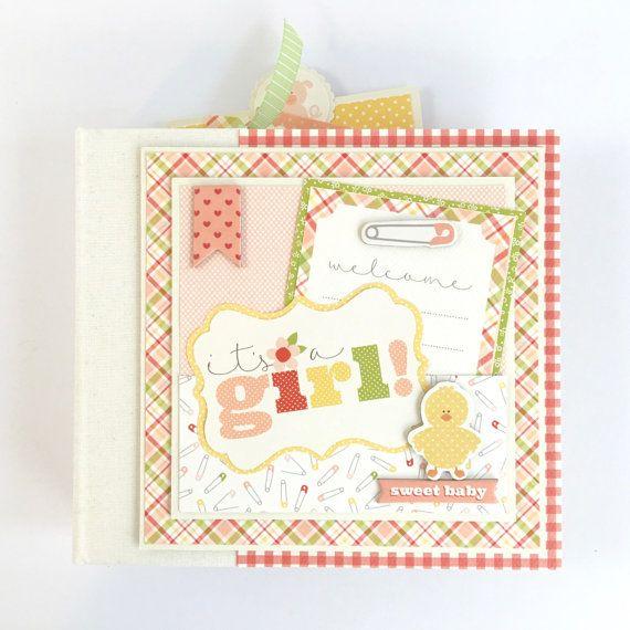 Baby Girl Scrapbook Mini Album Kit or Premade by ArtsyAlbums