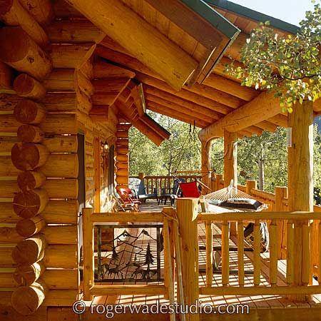 133 best log homes images on pinterest log houses wood for Log home porches