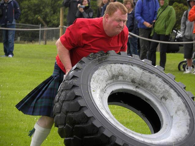Tyre flip - Lewis highland games 2010.