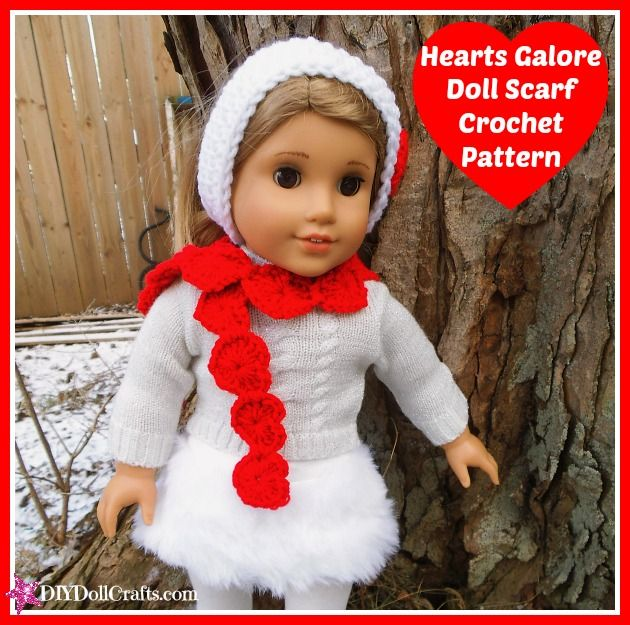 Doll Scarf | AllFreeCrochet.com | 625x630
