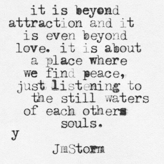 Our souls are one forever.