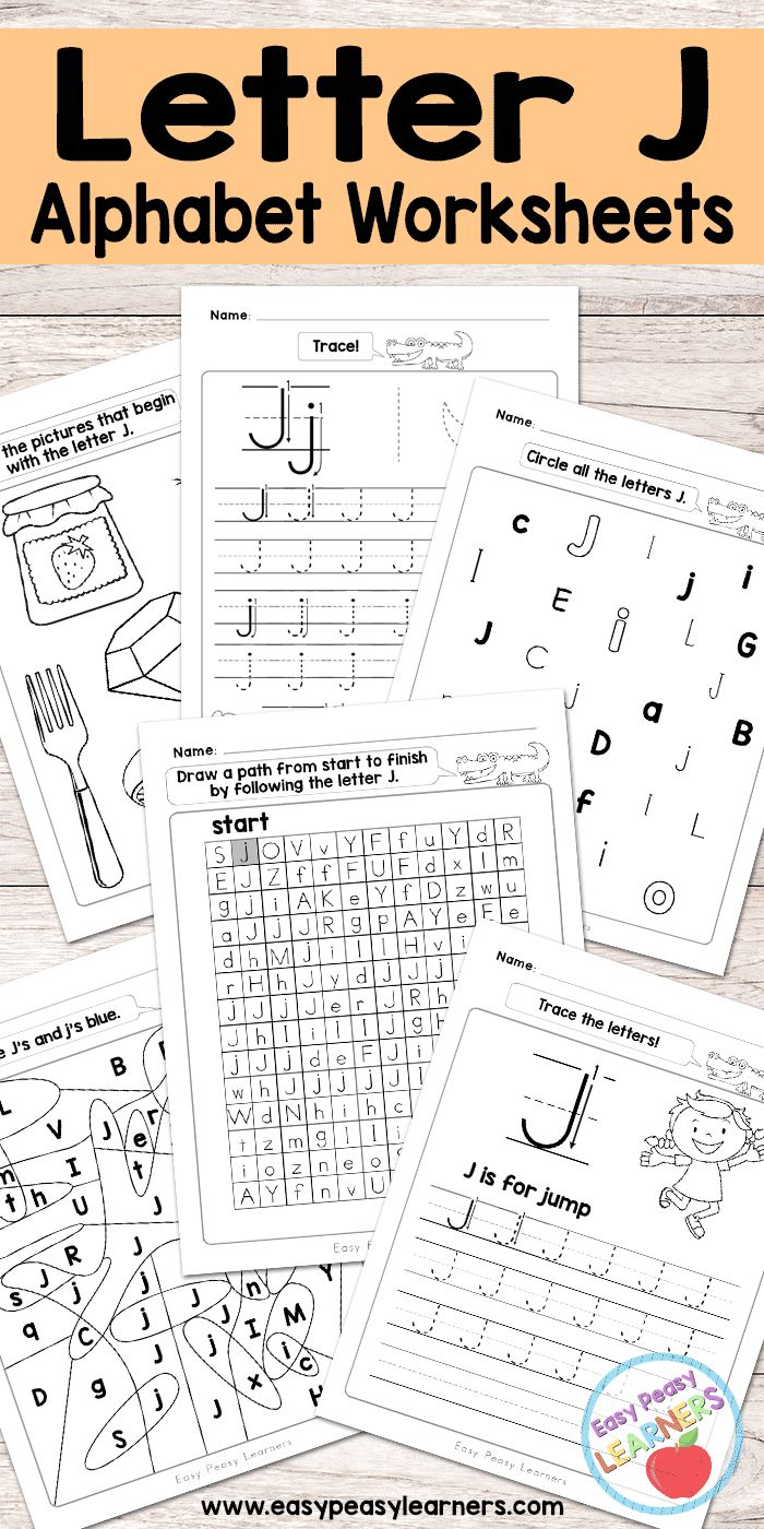 Free Printable Letter J Worksheets - Alphabet Worksheets Series