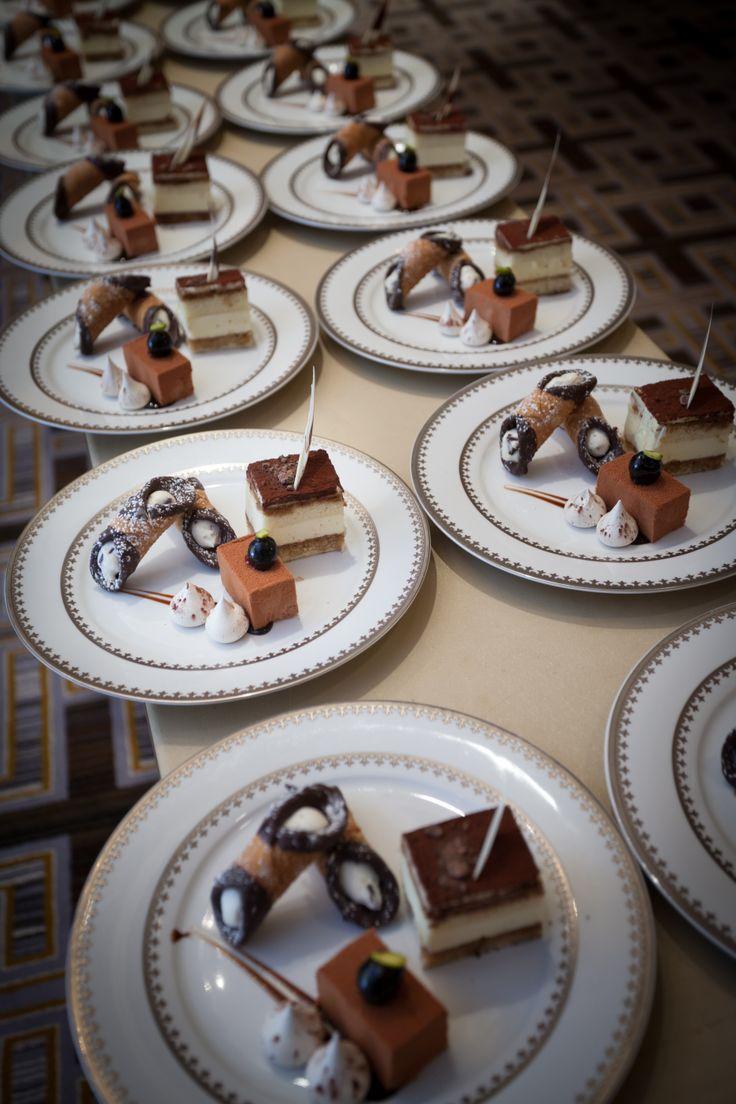 Dessert. The couple's Italian favorites. Cannoli, Tiramisu ...