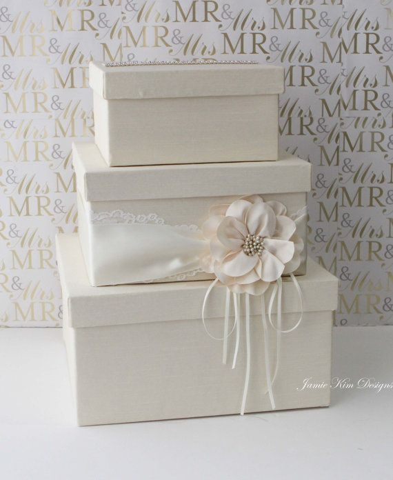 Wedding Card Box Wedding Money Box Gift Card by jamiekimdesigns