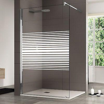 Box doccia walk in 140cm cristallo serigrafato da 10 mm