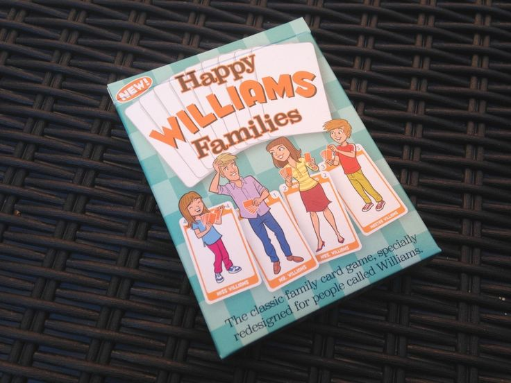 Here's a review of the WILLIAMS family edition of the new Happy Families card games.
