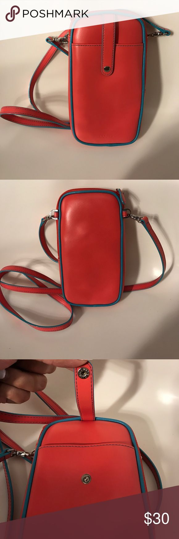 """Lodis Phone Crossbody NWOT. Part of the spring 2017 collection. Genuine leather. Tested with iphone 7 and fits perfectly. The interior includes 6 credit card slots. The exterior has a pocket with a snap closure. H: 7"""" L: 3.5"""" W: 1"""" Bags Mini Bags"""