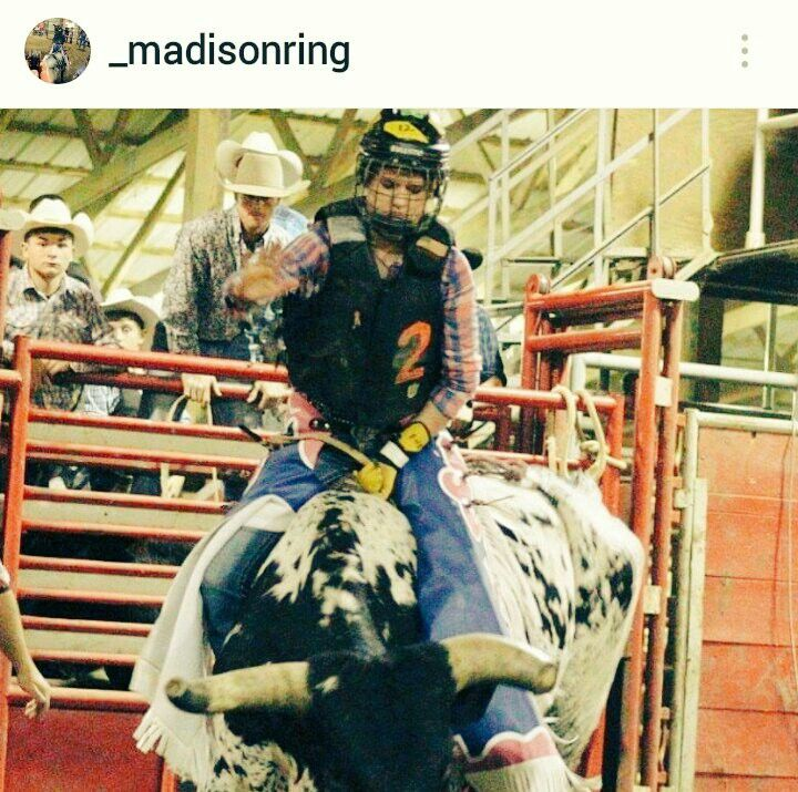 RODEO BREAKING NEWS Bull Riding ain't just For the COWBOYS This Cowgirl can Ride Follow her @_madisonring https://www.instagram.com/_madisonring/ Team Cowboy Coffee Chew #rodeo #bullriding #Cowgirls