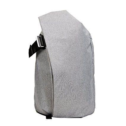 KALIDI 17 Zoll Notebooktasche Laptop-Tasche Rücksack Passend für bis zu 17 Zoll Laptops Grau