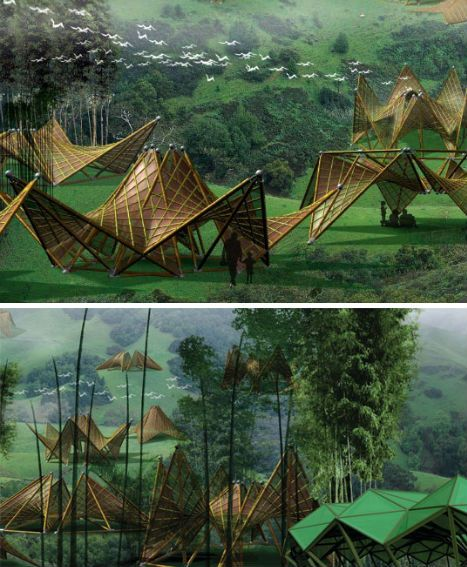 bamboo-buildings-origami-inspired-folding-house