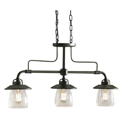 $200 Bronze Island 3-light fixture. Perfect for over the dining table as well. www.Lowes.com