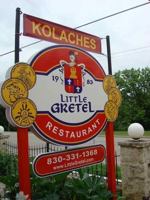 Little Gretel Restaurant located on River Road in Boerne, TX