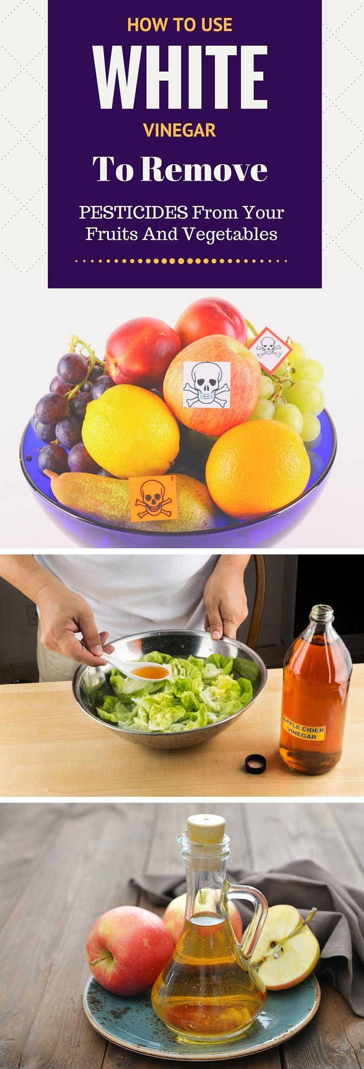 How To Use White Vinegar To Remove Pesticides From Your Fruits And Vegetables - Home Remedies-Almost 65% of produce samples analyzed by the U.S Department of Agriculture have been shown to be positive for pesticides. Nobody likes to have pesticide in thei