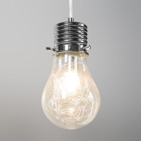 Lampa wisząca Bulb 4 przezroczysta