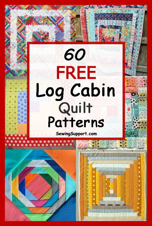 60 Free Log Cabin Quilt Patterns | Log cabin quilt pattern