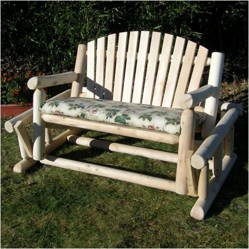 Rustic Cedar Log Style Wood Garden Bench w Glider Outdoor Patio Yard Furniture http://www.ebay.com/itm/Rustic-Cedar-Log-Style-Wood-Garden-Bench-w-Glider-Outdoor-Patio-Yard-Furniture-/230964577099?pt=Patio_Sets_Picnic_Tables=item35c68fc34b