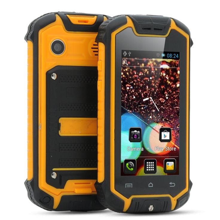 Nanex - 2.45 Inch Mini Android Phone (IP53 Water Resistant, Dual SIM, Yellow)