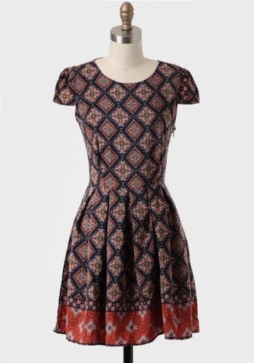 Journey To Jakarta Printed Dress | Modern Vintage Eclectic Prints
