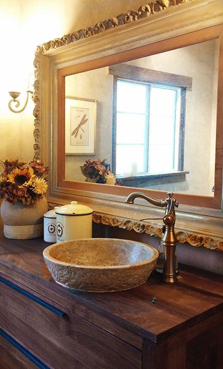 TashMart - Textured Natural Stone Vessel Sink - Afyon Noce Travertine, $305.00 (http://www.tashmart.com/textured-natural-stone-vessel-sink-afyon-noce-travertine/)